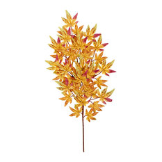 "26"" Japanese Maple Leaf Spray With 45 Leaves Yellow"