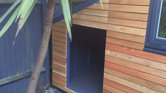 A dog kennel extension