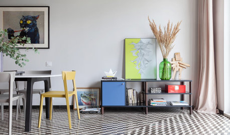 Houzz Tour: Bold Colours Zone an Urban Townhouse