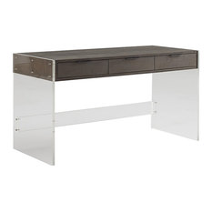 lucite table desks desk beauty vanity for stylish clear