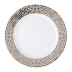 Bernardaud Athena Platinum Service Plate, Full Rim Design