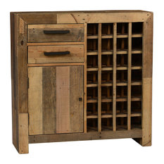 1st Avenue   Pelham Wine Rack Bar Cabinet, Natural   Wine And Bar Cabinets