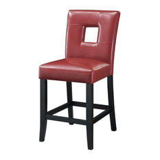 Newbridge Counter Height Dining Chairs Stools, Set of 2, Red