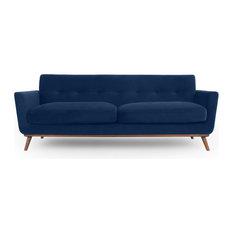 Jackie Classic Sofa, Royal Blue, Material: Velvet