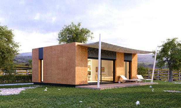 Trendy Hus & facade by Nuño Arquitectura