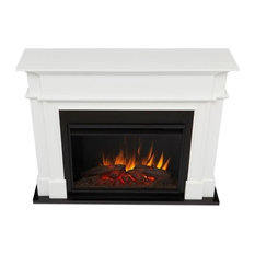 Harlan Grand Electric Fireplace White