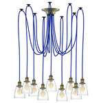 Hangout Lighting - Pendant Light Chandelier With Glass Shades - - 6 Foot Pendant Lights