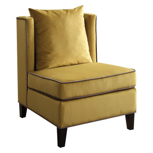 Ozella Velvet Accent Chair Contemporary Armchairs And