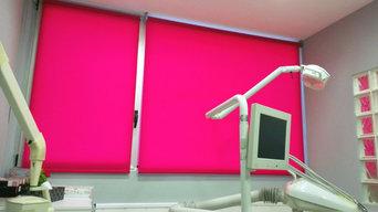 Enrollables decorativas para una clínica dental