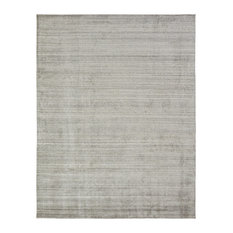 "MERIDIAN Oatmeal Hand Made Wool and Silkette Area Rug, Off-White, 8'6""x11'6"""