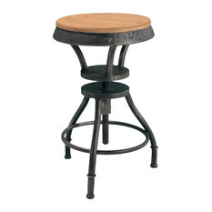 GDF Studio Henry Industrial Design Adjustable Height Bar Stool