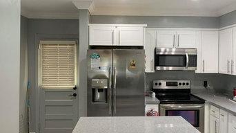 White Contemporary Kitchen Makeover