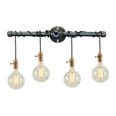 west ninth vintage binger 4 light vanity fixture bathroom vanity lighting - Bathroom Vanity Lighting