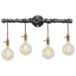 Fabulous Industrial Bathroom Vanity Lighting by West Ninth Vintage