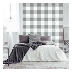 Buffalo Checks Allover Stencil - Plaid Print DIY Pattern for Home Makeovers, Sma