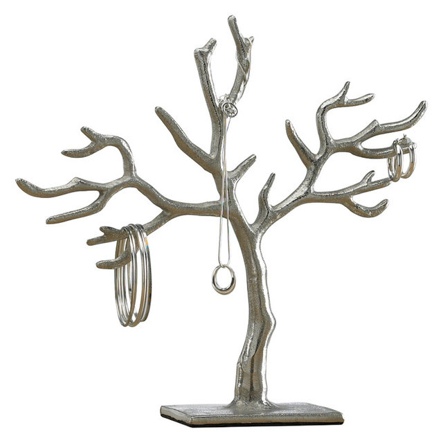 20Branch Casted Tree of Life Jewelry Holder Contemporary
