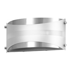 Acciaio Wall Sconce Brushed Nickel With White Diffuser