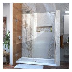 """DreamLine Unidoor 59-60""""W x 72""""H Shower Door with Support Arm, Chrome"""