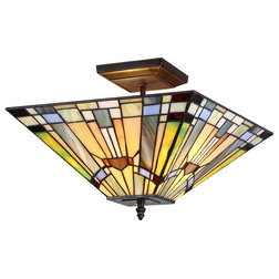 Craftsman Flush-mount Ceiling Lighting by CHLOE Lighting, Inc.