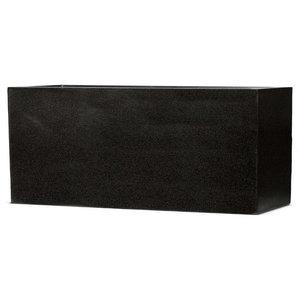 Raised Trough Fiberstone Contemporary Black Planter, 25x64x35 CM