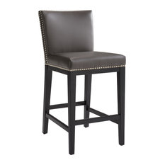 Sunpan Modern Home   Vintage Style Counter Stool  Gray   Bar Stools and  CounterLeather High Back Bar Stools and Counter Stools   Houzz. High Back Bar Stools. Home Design Ideas