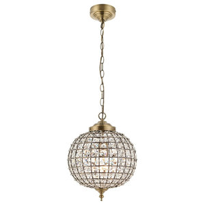 Tanaro Single Brass Dome Pendant
