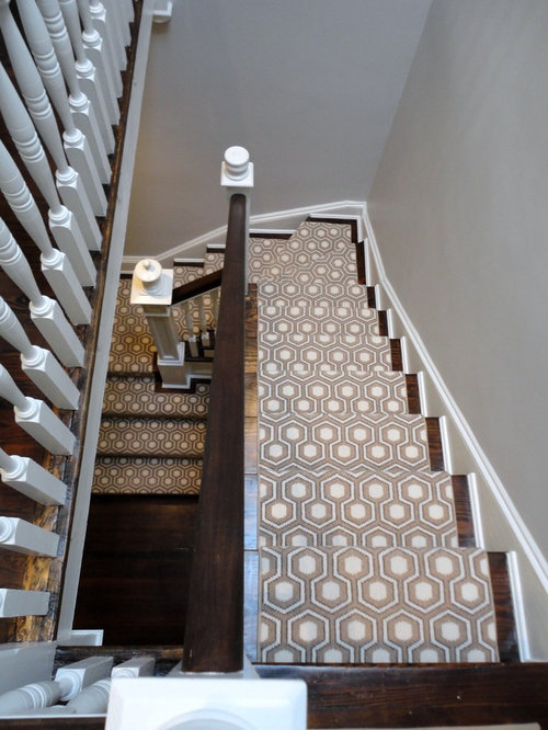 Patterned Carpet Stairs Houzz
