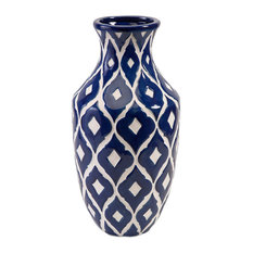 Maine Blue and White Vase, Tall