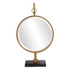 Howard Elliott Medallion Gold Mirror