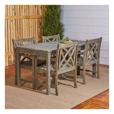 Renaissance Eco-Friendly 5-Piece Outdoor Hand-Scraped Hardwood Dining Set