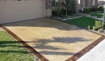 Stamped Concrete Overlay on Driveway