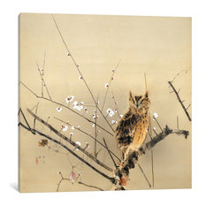 """""""Early Plum Blossoms"""" Wrapped Canvas Art Print, 18x18x1.5"""