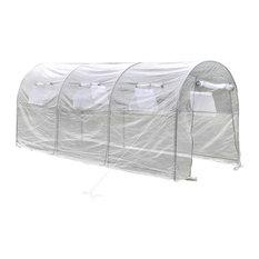 vidaXL Outdoor Greenhouse Transparent Large Portable Gardening Plant Hot House