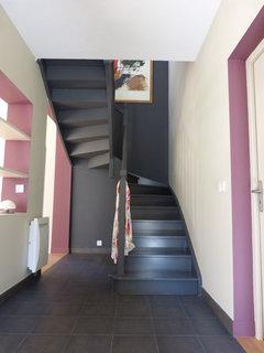 R nover escalier - Couleur mur escalier ...
