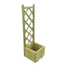 vidaXL Impregnated Wooden Trellis Planter, 40x135 cm