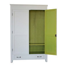 Bababua' Babamode Country Armoire, Grey and Green, Clothing Hangers