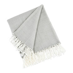 Herringbone Design Throw Blanket, Gray