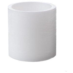 Cylinder Paraffin Eternity Candles, White, Small, Set of 2