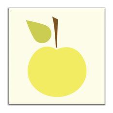 "4.25""x4.25"" Folksy Love Satin Decorative Tile, Delicious Golden Yellow"
