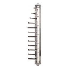 Hardware Resources 357T Twelve Hook Swivel Arm Vertical Tie Rack - Nickel