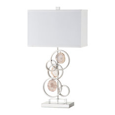 Metal With 3 Pieces of Agate Table Lamp