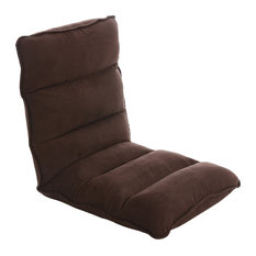 Tyson Modern Adjustable Customizable Fabric Gaming Chaise Lounge Chair,  Brown By AC Pacific