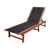 vidaXL Solid Acacia Wood Sun lounger Garden Recliner Pool Furniture Daybed