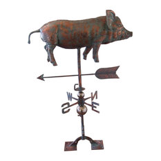 3-Dimensional Full Body Pig, Patina Copper