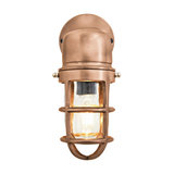Bulkhead Outdoor & Bathroom Sconce Wall Light - 12 Inch, Copper