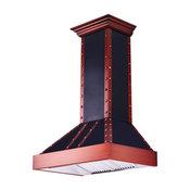 "ZLINE Designer Copper Wall Range Hood, Crown Molding (655-BCCCC), 36"""