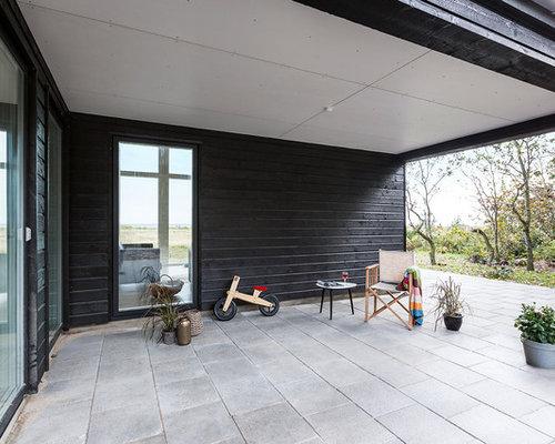 Foto e idee per esterni esterni moderni aarhus for Portico laterale in stile casa in stile charleston