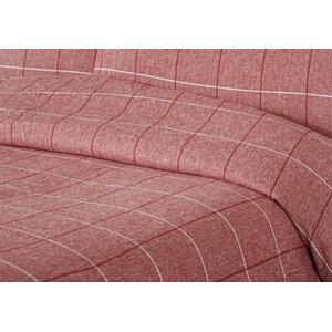 Appleby Duvet Cover Set, Red, Single 135x200 cm