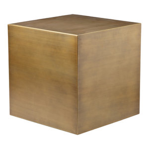 "Spencer Brass Side Table, 20""x20"""