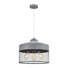 "12"" Grey Dark horse 3-Light Chandelier"